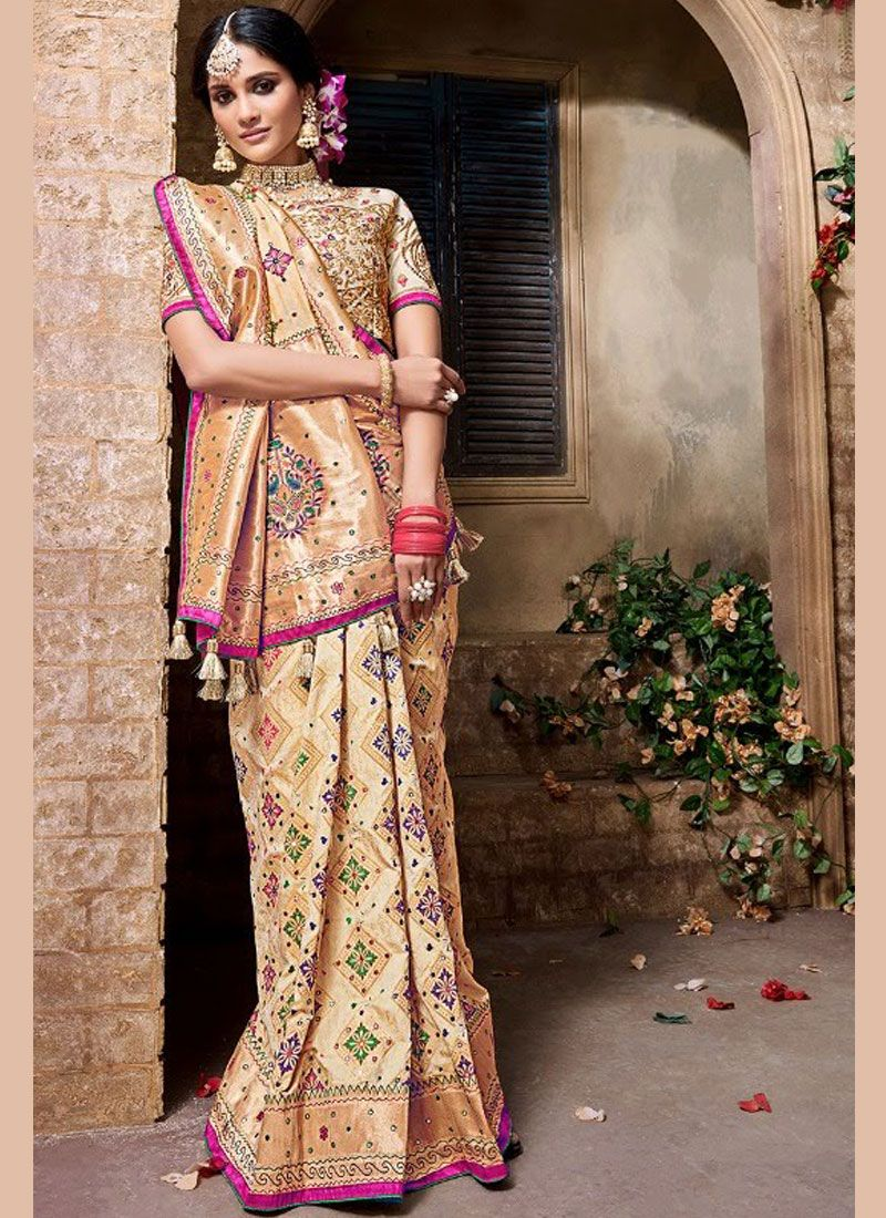 Embroidered Gold Trendy Saree