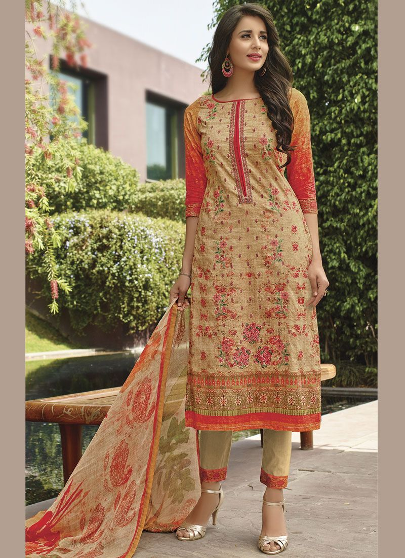 26e8783ff Embroidered Multi Colour cotton lawn Designer Pakistani Suit buy ...