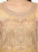 Embroidered Net Anarkali Salwar Kameez