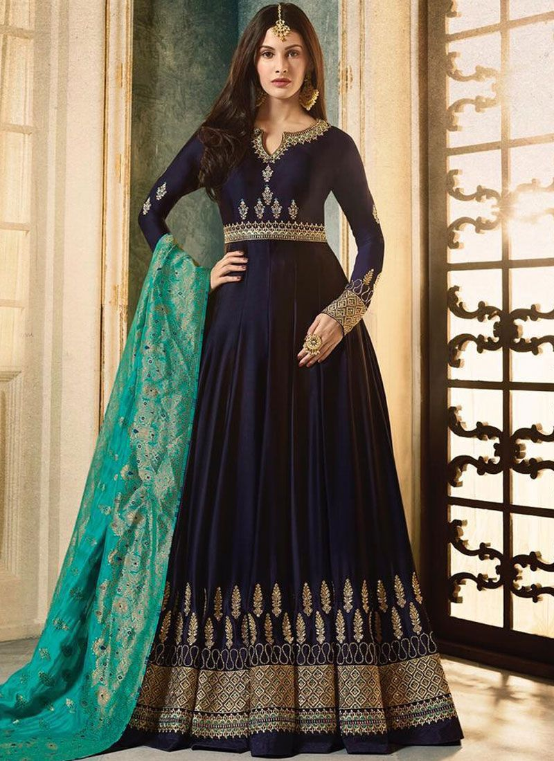 Embroidered Party Floor Length Anarkali Suit