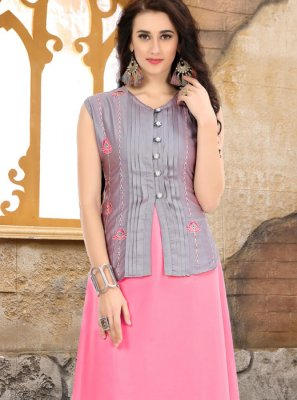Embroidered Party Party Wear Kurti