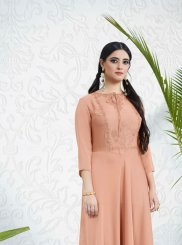 Embroidered Pink Party Wear Kurti