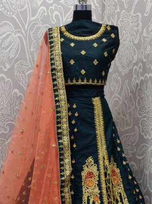 Embroidered Sangeet Lehenga Choli