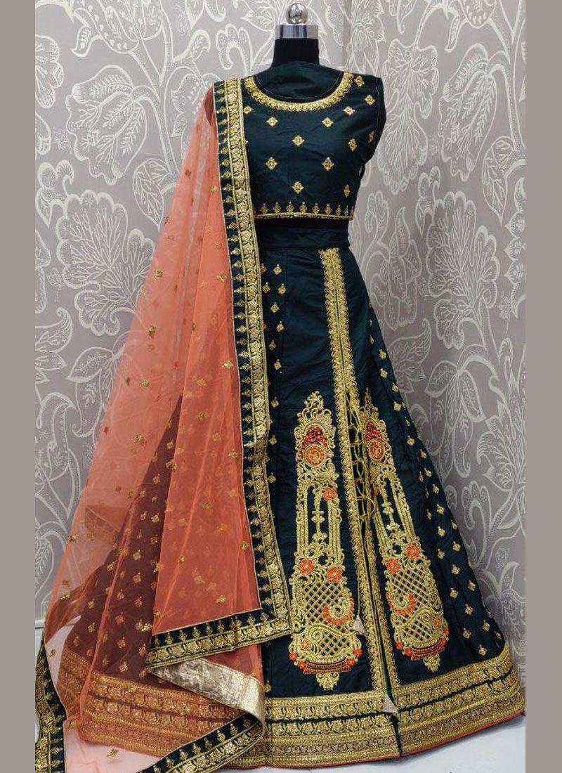 Embroidered Sangeet Lehenga Choli