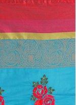 Embroidered Work Art Silk Cotton Casual Saree