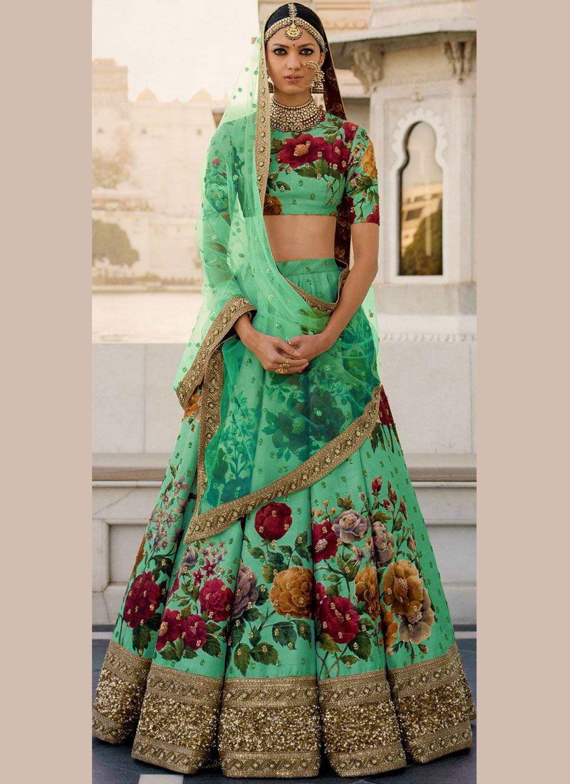 Embroidered Work Art Silk Designer Lehenga Choli