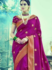 Buy Online Embroidered Work Art Silk Designer Traditional Saree