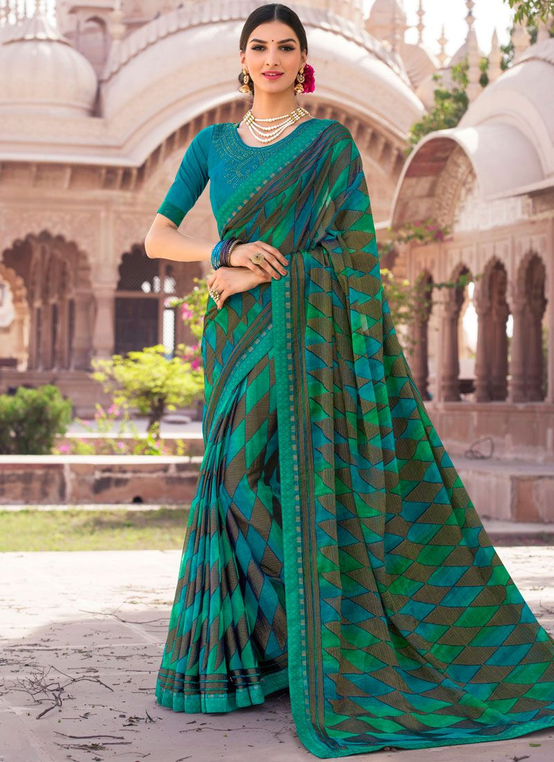 Embroidered Work Brasso Classic Saree
