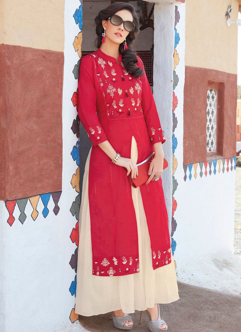Embroidered Work Casual Kurti