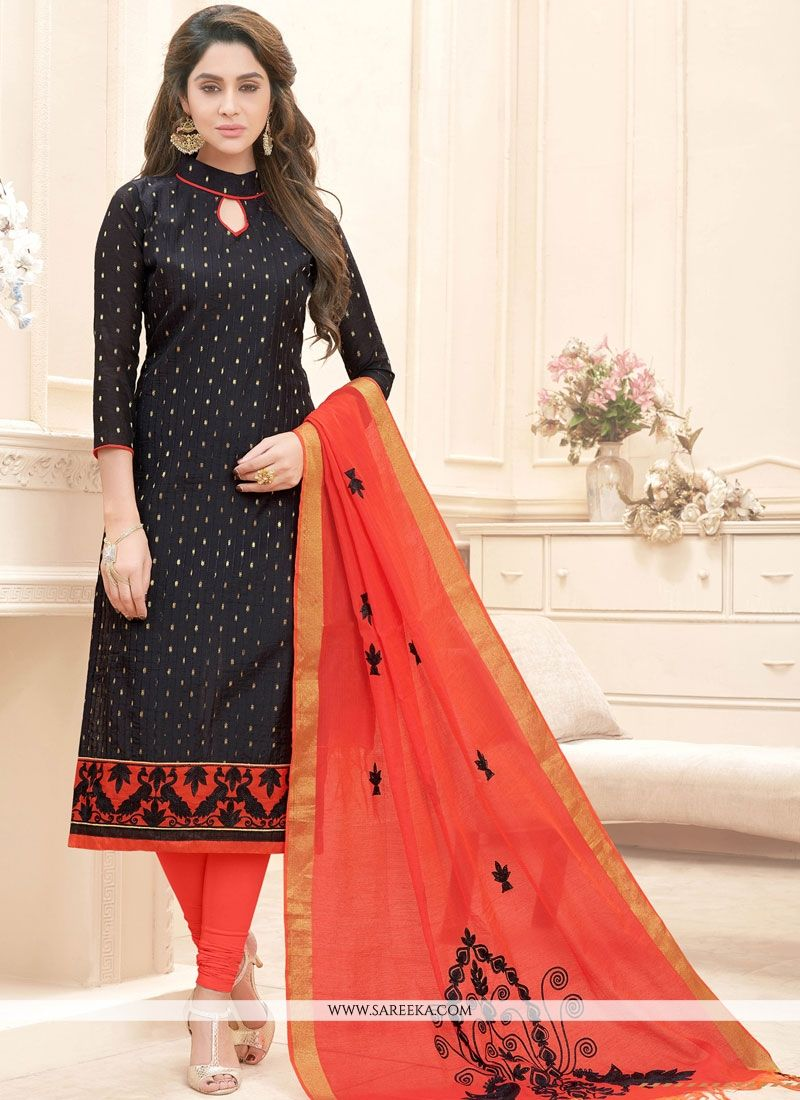 2b88b65fed Shop Online Embroidered Work Cotton Churidar Suit : 74787 -