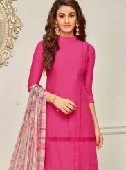 Embroidered Work Cotton   Hot Pink Designer Palazzo Suit