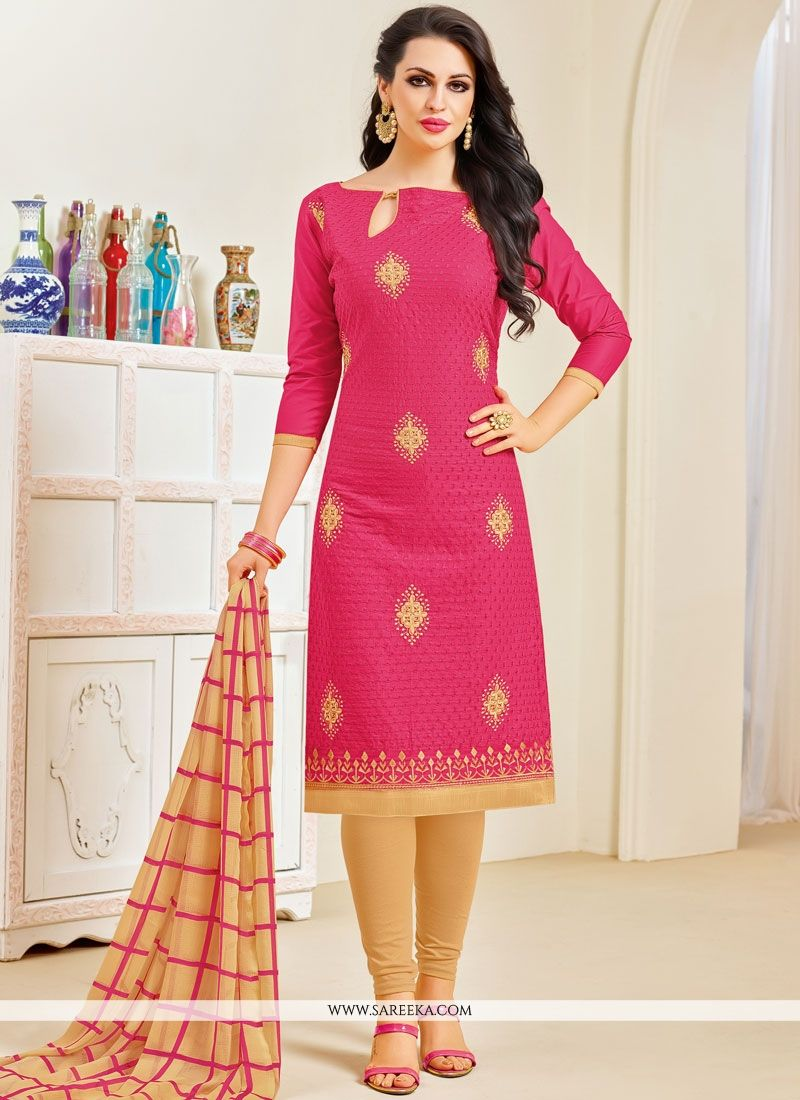 Embroidered Work Cotton   Salwar Kameez
