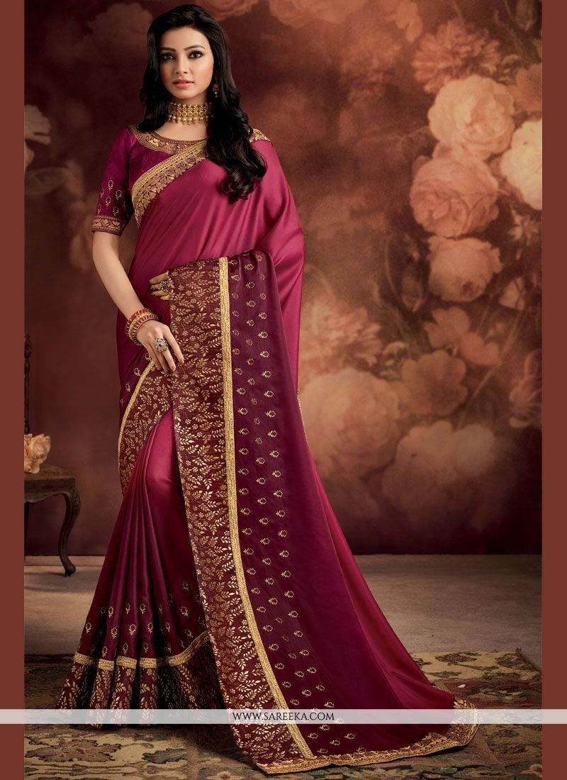 45469d3cad Buy Embroidered Work Fancy Fabric Shaded Saree Online -
