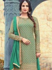 Embroidered Work Faux Georgette Designer Pakistani Suit