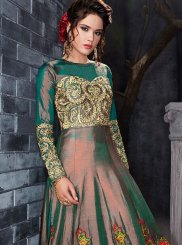Embroidered Work Green Floor Length Anarkali Suit