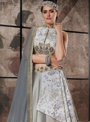 Embroidered Work Jacquard Silk Lehenga Choli