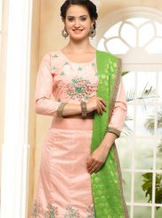 Embroidered Work Pink Lehenga Choli
