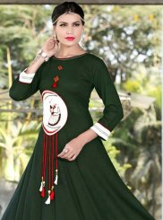 Embroidered Work Rayon Party Wear Kurti