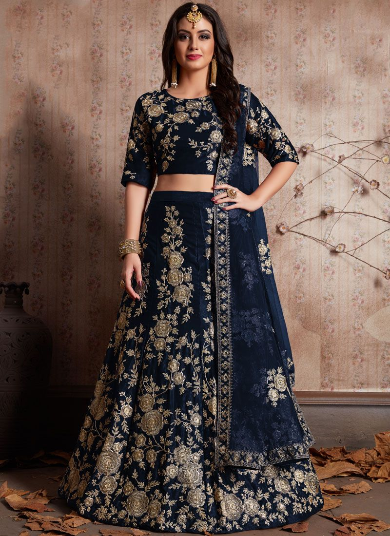 Embroidered Work Silk Lehenga Choli