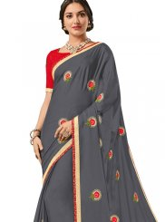 Buy Online Embroidered Work Trendy Saree