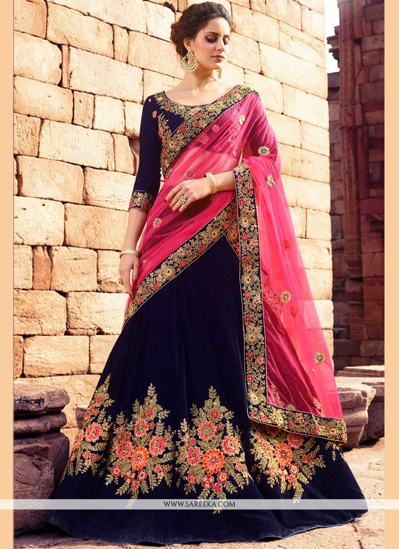 2506022e49 Buy Online Embroidered Work Velvet Lehenga Choli : 72377 -