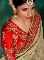 Embroidered Work Viscose Classic Designer Saree