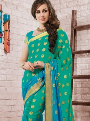 Fancy Crepe Silk Shaded Saree