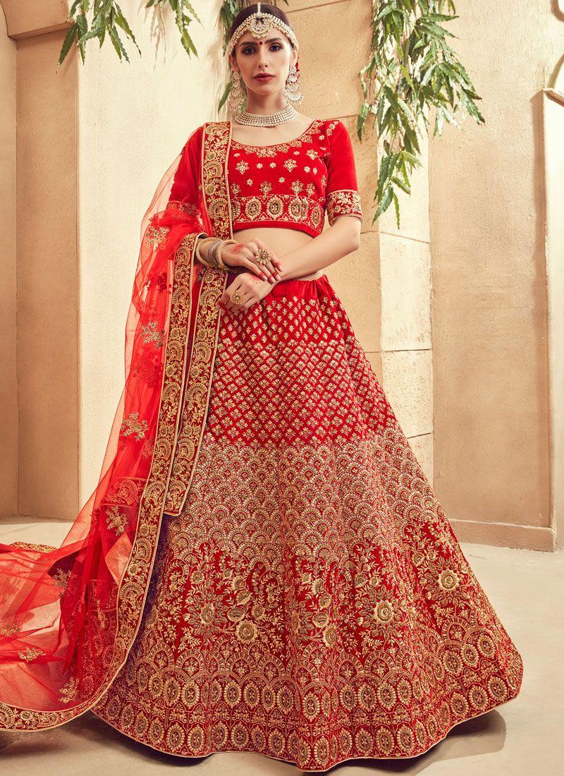 a6f0bcdb2f Buy Fancy Fabric Bridal Lehenga Choli Online : 93336 -