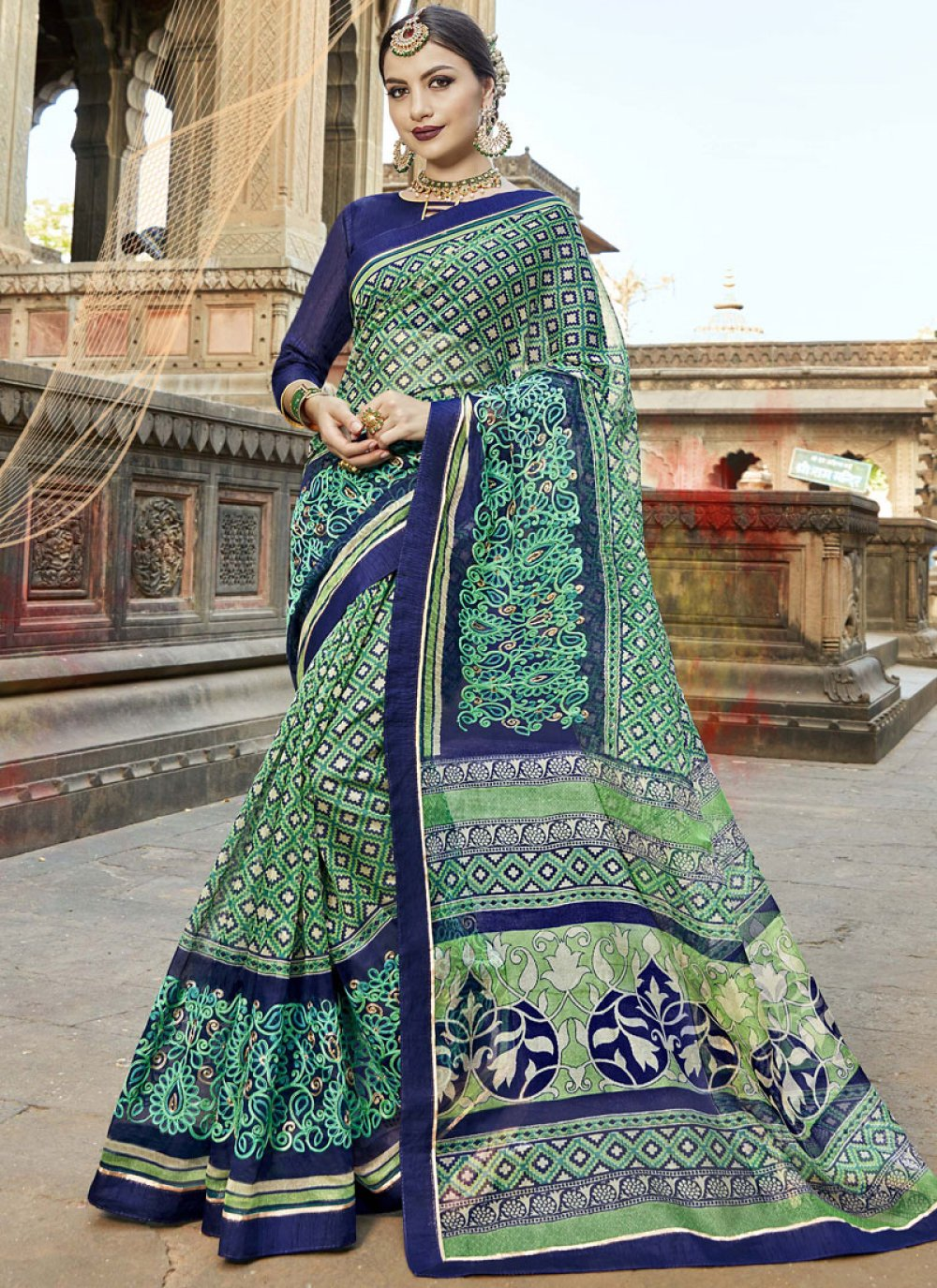 Fancy Fabric Casual Saree