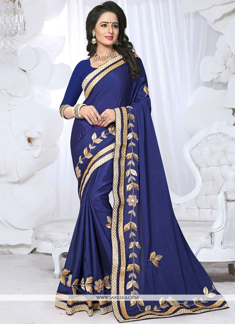Fancy Fabric Embroidered Work Saree