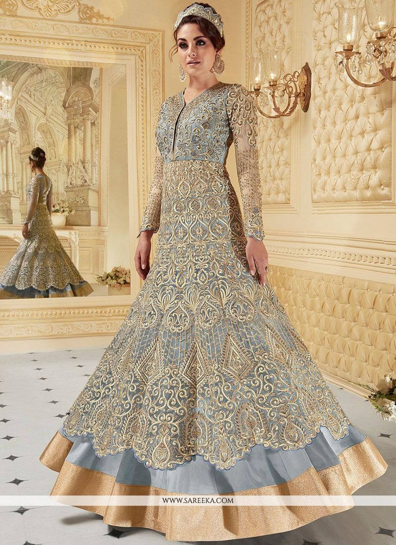 Fancy Fabric Floor Length Anarkali Suit