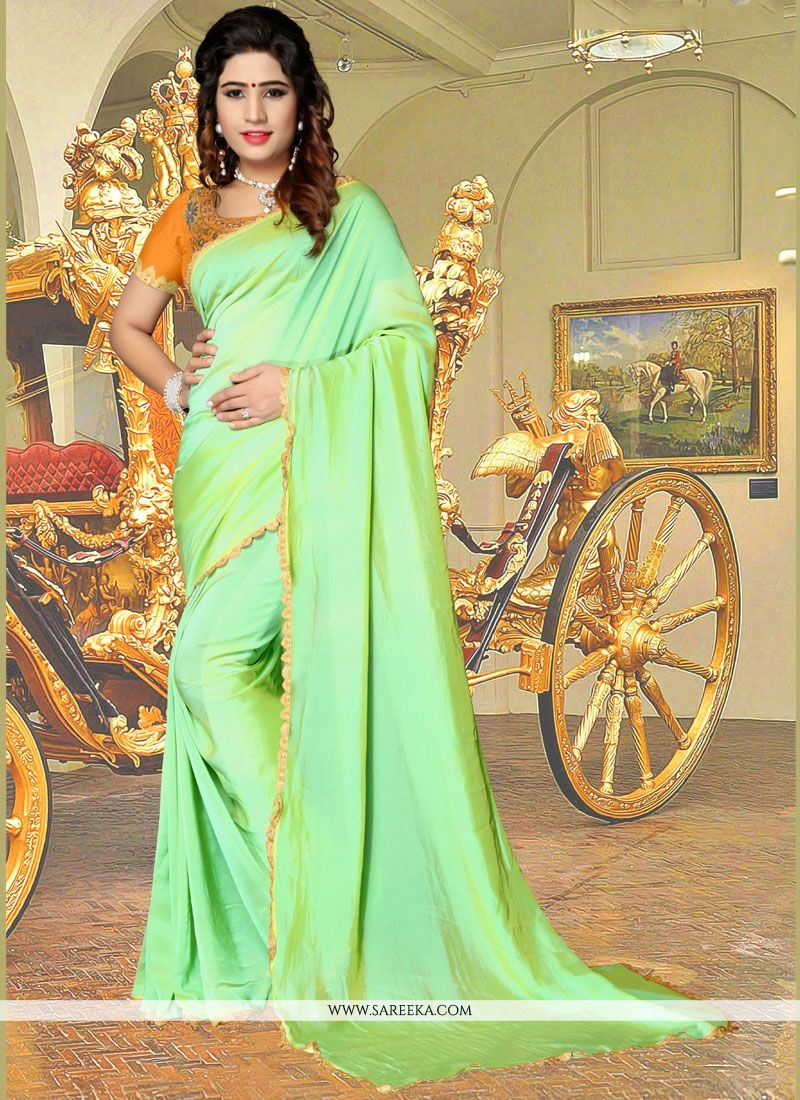 Fancy Fabric Green Casual Saree