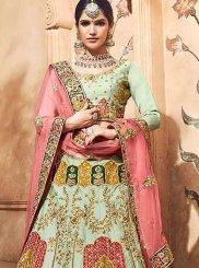 Fancy Fabric Lehenga Choli in Sea Green