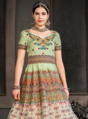 Fancy Fabric Sangeet Designer Gown