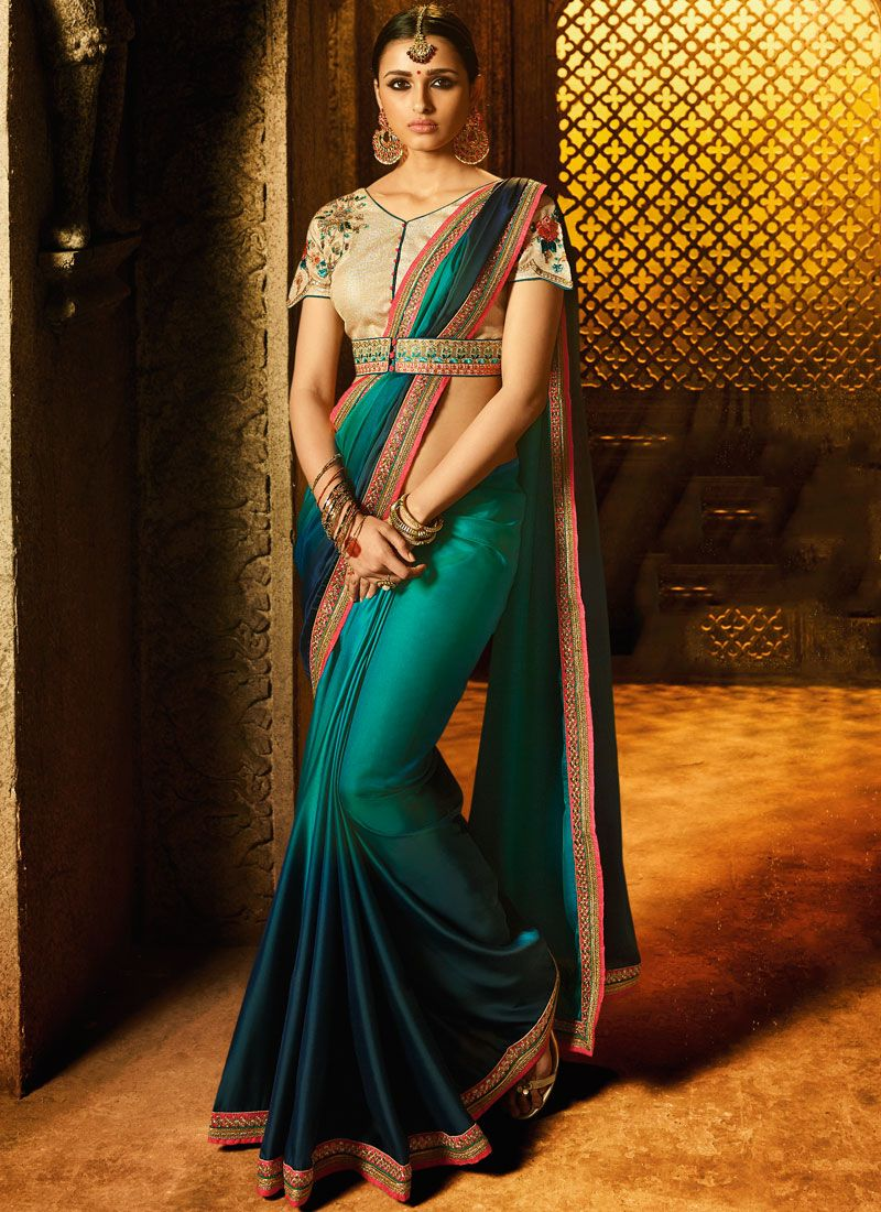 Fancy Fabric Shaded Saree
