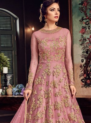 Fancy Fabric Wedding Floor Length Anarkali Suit
