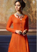 Fancy Orange Party Wear Kurti