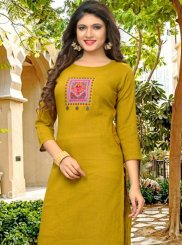 Fancy Yellow Casual Kurti