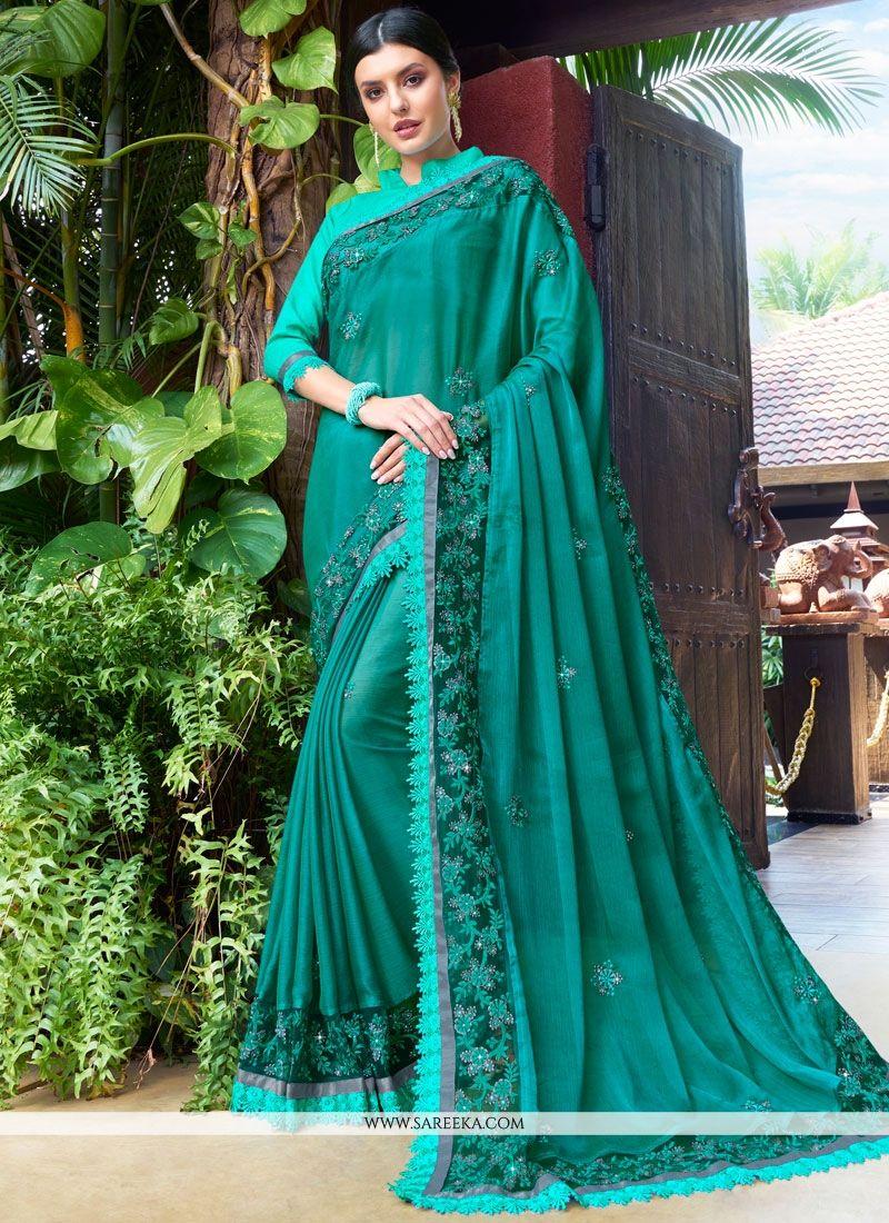 Faux Chiffon Resham Work Designer Traditional Saree