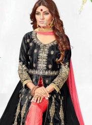 Faux Georgette Black Anarkali Salwar Kameez