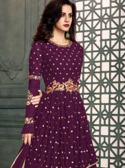 Faux Georgette Floor Length Anarkali Suit