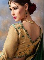 Faux Georgette Green Classic Saree