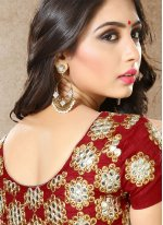 Faux Georgette Hand Work Work Saree