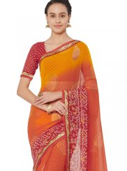Faux Georgette Multi Colour Saree