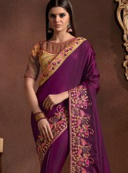 Faux Georgette Patch Border Saree