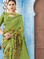 Faux Georgette Print Multi Colour Printed Saree