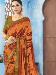 Faux Georgette Print Printed Saree