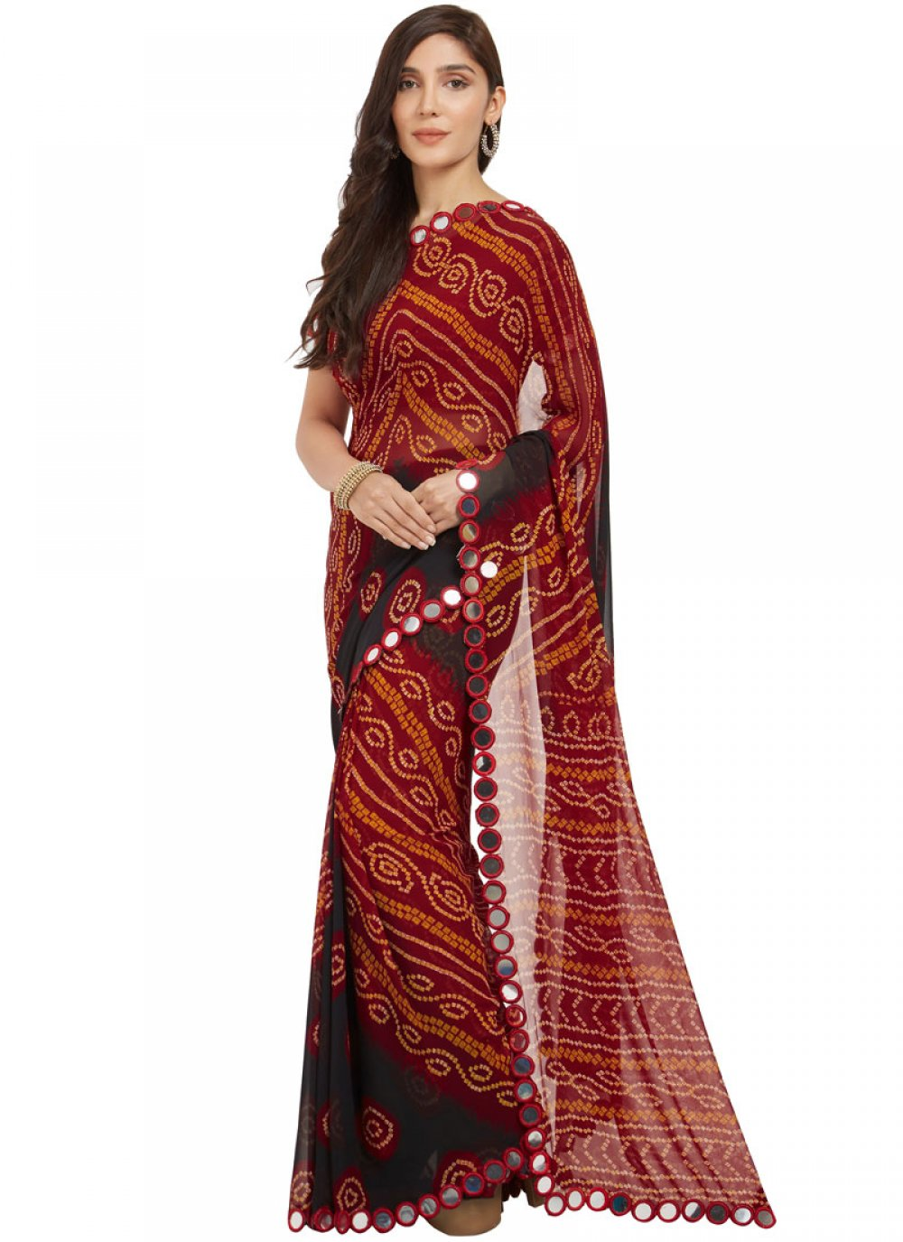 Faux Georgette Printed Work Casual Saree