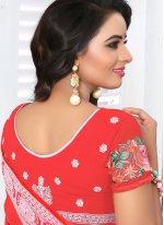 Faux Georgette Wedding Designer Saree