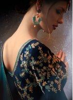 Faux Georgette Zari Work Classic Designer Saree